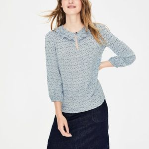 Boden Scallop Frill Top Star Pattern